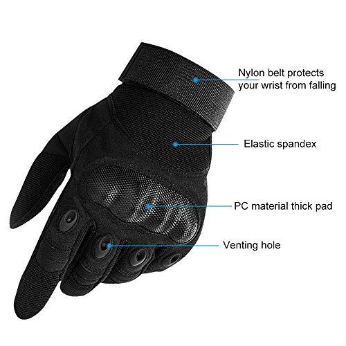 Nasharia Gants Tactiques Renforcés Ecran Tactile Respirable pour Auto Moto, Vélo, Motocross, Combat, Camping,Randonné… 4