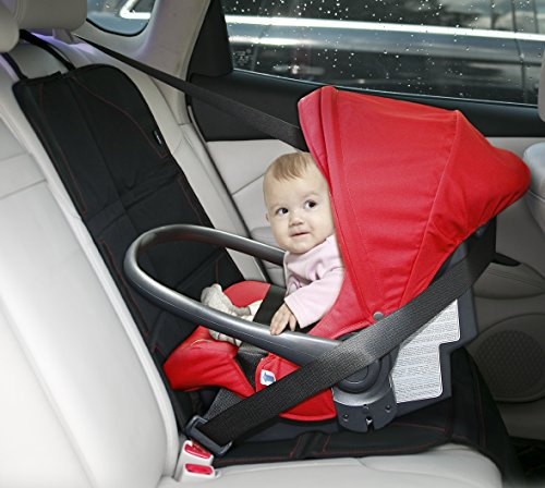 Baby Car Seat Protector with Thickest Padding - Premium Carseat Seat Protectors - Carseat Auto Cover - Seat Protector Under Car Seat - Car Seat Guardian - Leather Car Seat Mat - Booster Seat Protector by Balli (Image #2)