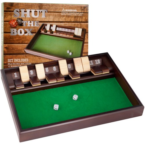 Hey! Play! Shut The Box Game - 12 Numbers (Includes Dice)
