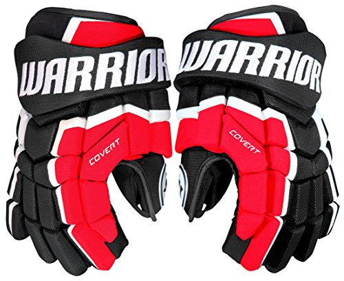 Warrior QRL4 Gloves, Size 14, Black/Red/White