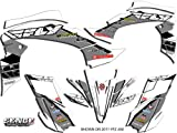 2007 yfz 450 graphics - Senge Graphics 2003-2008 Yamaha YFZ 450 (Steel Frame), 13 Fly Racing White Graphics Kit