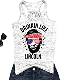 Best Print Wear Clothing Friend Gifts Shirts - KimSoong Women Drinkin Like Lincoln Cute Print Shirt Review