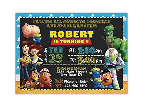 (Custom Toy Story Birthday Party Invitations for Kids, 10pc-100pc 4