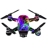 MightySkins Skin For DJI Spark Mini - Neon Splatter | Protective, Durable, and Unique Vinyl Decal wrap cover | Easy To Apply, Remove, and Change Styles | Made in the USA