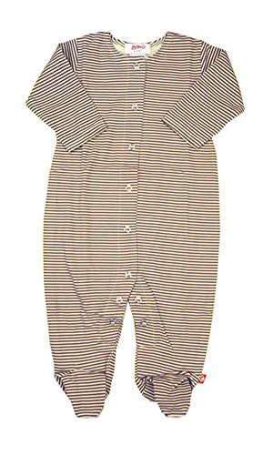 Zutano Chocolate Candy Stripe Footie