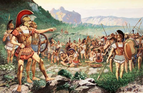 wallmonkeys-leonidas-bids-farewell-to-allies-before-the-battle-at-thermopylae-peel-and-stick-wall-de