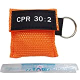 Elysaid 100pcs CPR Mask with Keychain CPR Face Shield for Aed First Aid Training Pocket Size 4 Colors