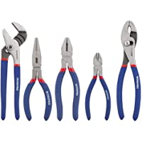 WORKPRO 5-piece Pliers Set (10-Inch Slip Joint, 8-Inch Linesman, 8-Inch Long Nose, 6-Inch Diagonal, 10-Inch Groove Joint) for Basic Home Use