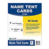 C-Line 87517 Printer-Ready Name Tent Cards, 11 x 4 1/4, White Cardstock, 50 Letter Sheets/Box