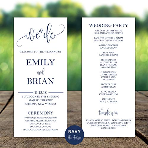 (Wedding Program -