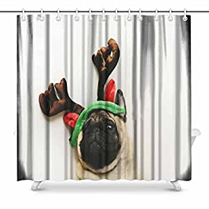 Amazon.com: InterestPrint Cute Pug Dog Portrait in
