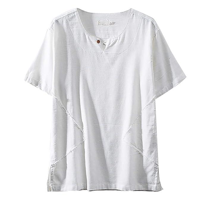 Amazon.com: TUSANG - Camiseta de manga corta para hombre, de ...