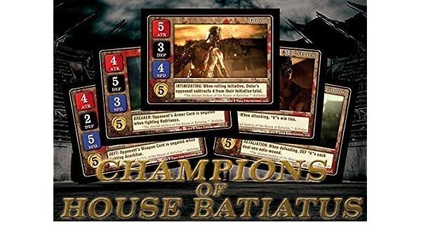 Battlefront Miniature Campeones de casa BATIATUS Tarjeta Juego ...