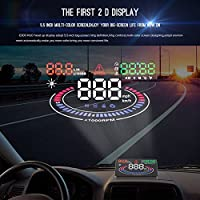 HUD E300 Head Up Display Auto OBD II EUOBD Speed ​​Display RPM Gasoline Expenditure