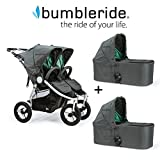 Bumbleride 2018 Indie Twin Stroller with Bassinets in Dawn Grey and Mint