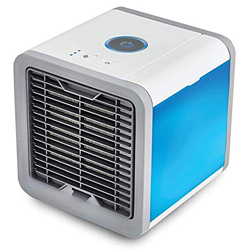 Portable Air Cooler,3 in 1 Mini USB Personal Space Air Cooler, Humidifier and Purifier, Desktop Cooling Fan with 3 Speeds and 7 Colors LED Night Light for Office Home Outdoor Travel,As Seen On Tv ONEGOL