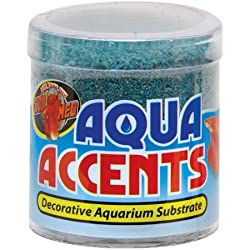Zoo Med Aqua Accents Decorative Substrate - Terminator Teal Sand - 0.5 lb