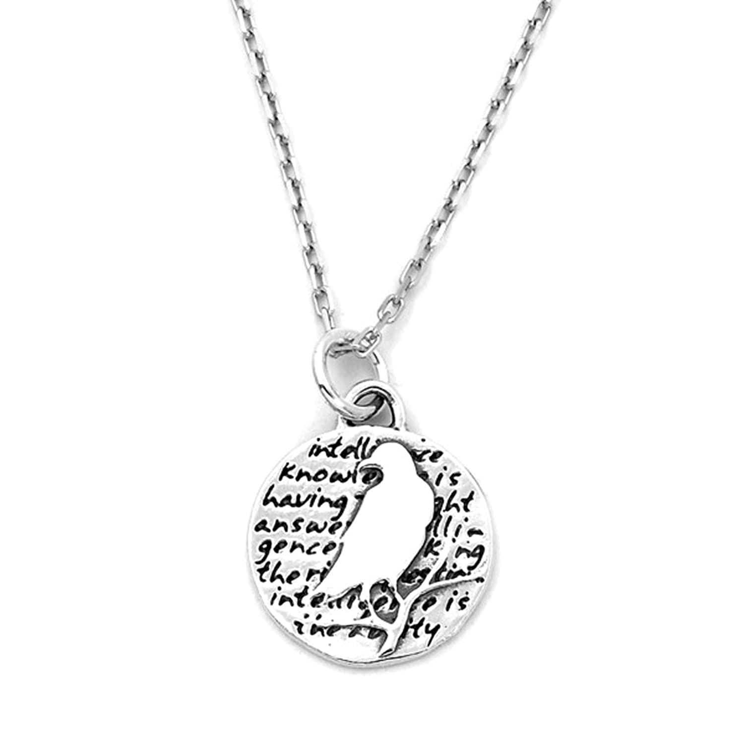 7ed7660eb ... best kevin n anna inspirational sterling silver bird pendant necklace  ...