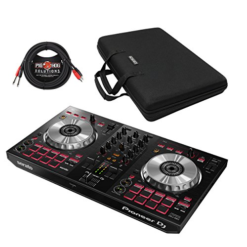 Pioneer DDJ-SB3 2-Channel Serato DJ Controller & Pig Hog Cable (With Case) by Pioneer DJ