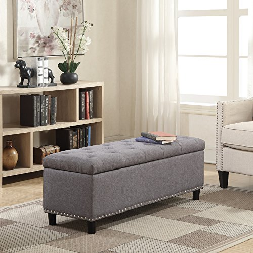 Rectangular Tufted Ottoman - Belleze 48
