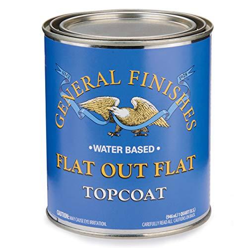 General Finishes Flat Out Flat Topcoat, Quart ()