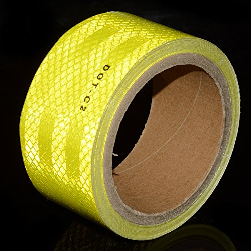 "Fluorescent Yellow DOT-C2 Conspicuity Reflective Tape - 2"" Inch X 30"