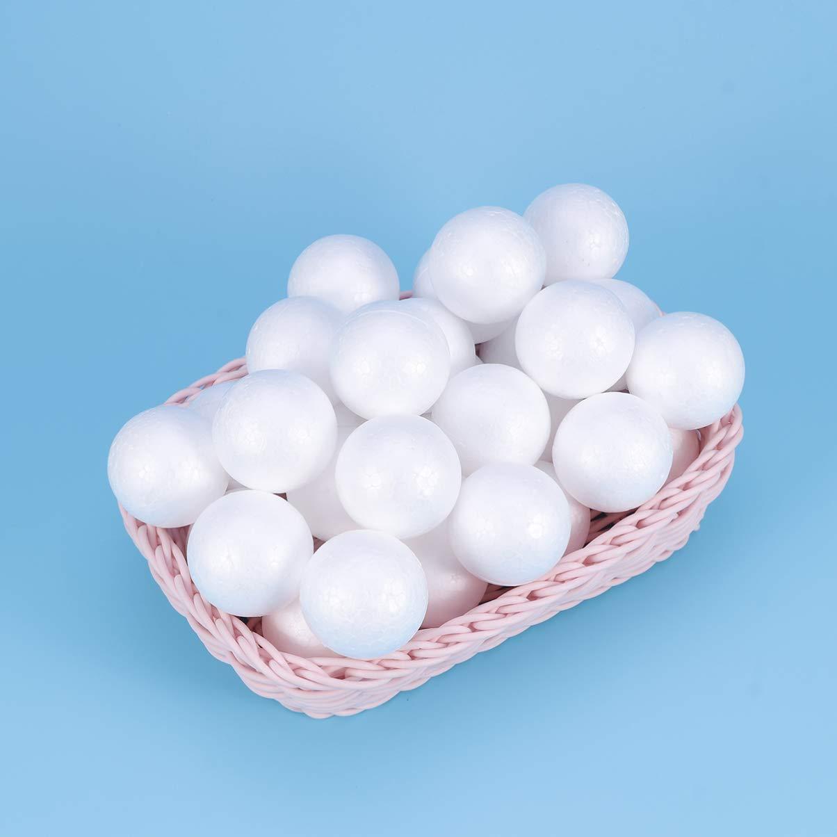 HEALLILY 100pcs Blanc Mousse balles Forme de no/ël Artisanat Balle Art d/écoration polystyr/ène no/ël Artisanat Kits de no/ël Boule Ornements 3 cm