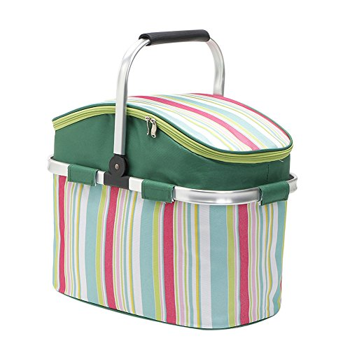 Foldable Picnic Basket, 26L High Capacity Picnic Blanket for Holidays Parties Outdoor Travel, Picnic, Grill, Beaches, BBQ by Betty
