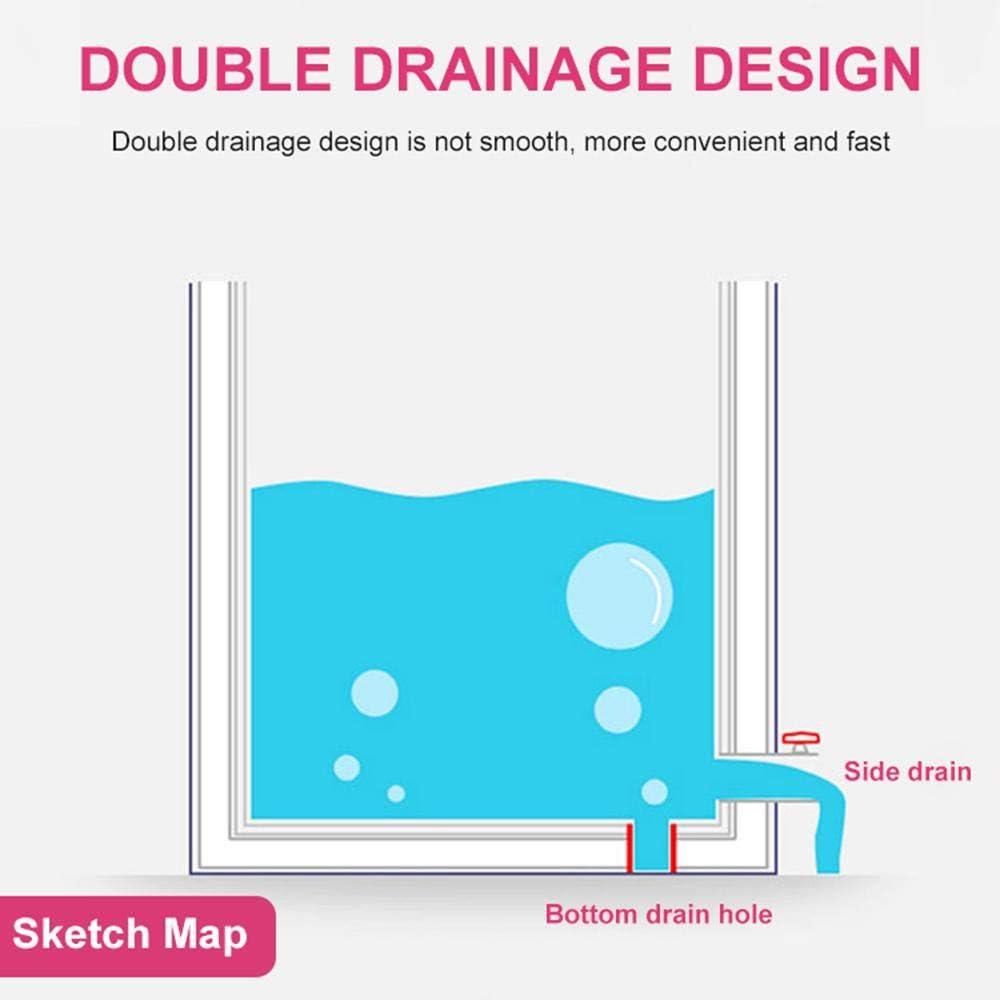 GosCrazy Tragbare Badewanne hei/ßes Bad Eisbad effiziente Aufrechterhaltung der Temperatur freistehender SPA-Badeeimer f/ür Duschkabine Faltbare Badewanne mit verdickendem Thermoschaum