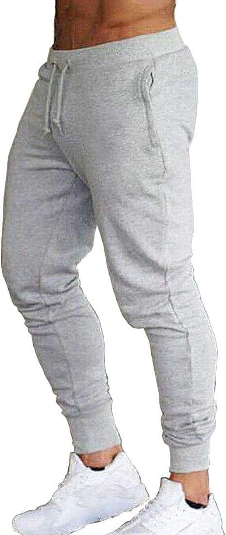 Gocgt Mens Joggers Pants Athletic Running Drawstring Gym Workout Pants