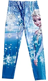 c8db101e5 Disney Frozen Princess Elsa and Anna Full Length Leggings Tights Yoga Pants  for Girl Age Group