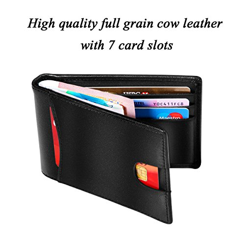 Blocking Wallet High Black Slim Fold Leather HBF Vintage Wallets Men Wallet for RFID Quality 1qdxd6zfw