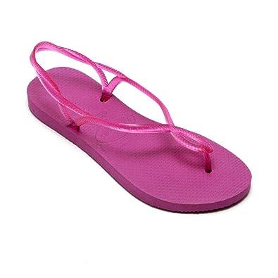 cheaper e9749 7f5f4 Havaianas Luna Rosa Gum Pink Strap Flip Flops Thongs Brazil ...