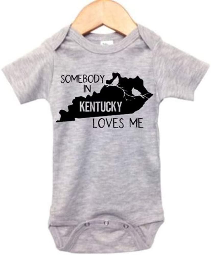 Toddler//Kids Short Sleeve T-Shirt My Aunt in Kentucky Loves Me
