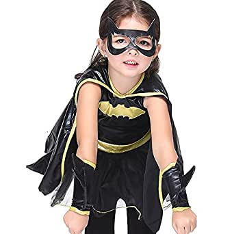 Batman Cloak Costumes Prince Halloween Costume Kids Halloween Cosplay Costume (XL(125cm-135cm))