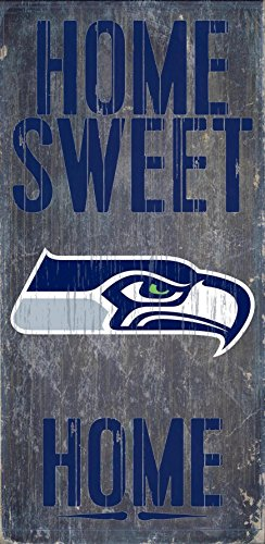 Seattle Seahawks Wood Sign - Home Sweet Home