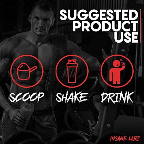 Insane Labz Insane L-Glutamine Powder, Unflavored, Build Muscle Repair Maintain, Pure L-Glutamine Post Workout, 7.1 oz 40 Servings