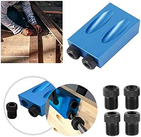 35pcs 15 Degree Drilling Angle Pocket Hole Screw Jig Dowel Drill Joinery Kit Woodworking Tool