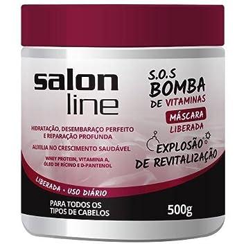 Linha Tratamento (SOS Bomba de Vitaminas) Salon Line - Mascara Liberada Explosao De Revitalizacao