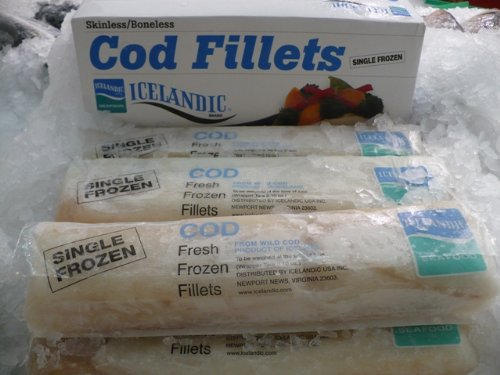 Wild Caught Icelandic Cod, Frozen Cello Pak5 lb. box