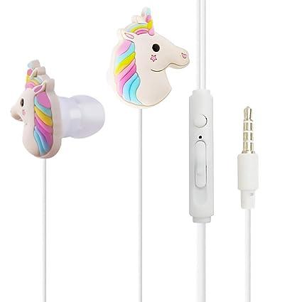 e9186f680e1 QearFun In Ear Wired 3.5 mm 3D Cute Cartoon Animal Unicorn Earphone/Earbuds/ Headphones