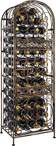 Wine Enthusiast Renaissance Wrought Iron Wine Jail (Wrought Metal Rack Wine Iron)