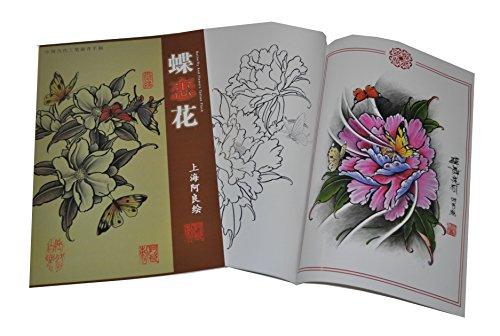 Tattoo Flash Book Art A3 - Flowers + Butterflies