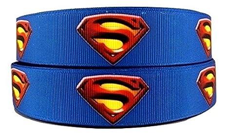 1 metro de cinta azul con tema de Superman, dibujo animado ...