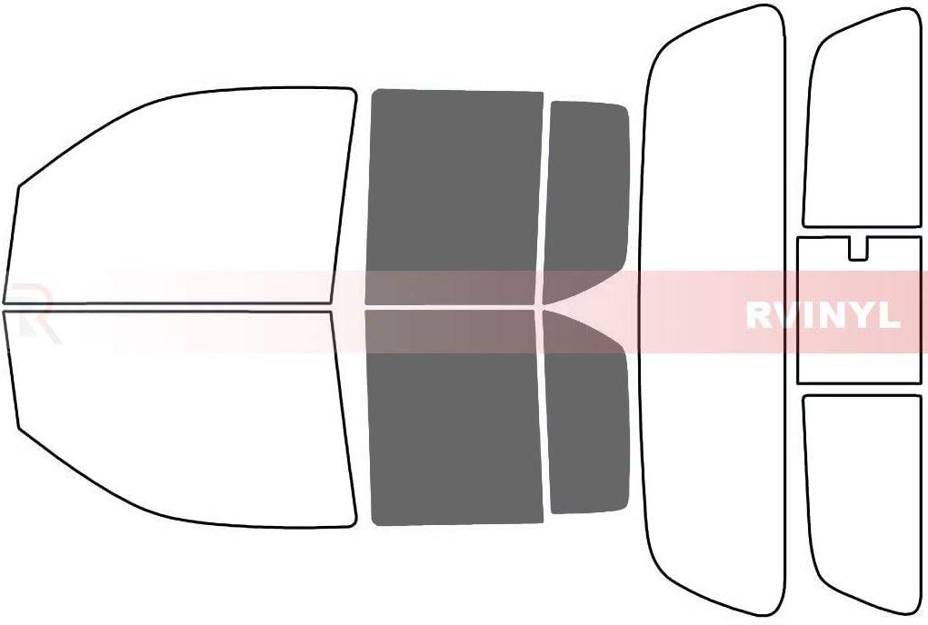 4 Door 20/% Rtint Window Tint Kit for Nissan Frontier 2005-2020 - Back Kit