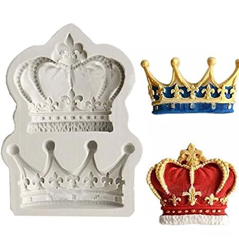 Coronas form princesa Reina 3d molde de silicona Fondant Cake Cupcake decoración herramientas arcilla resina Candy Fimo Super molde DIY: Amazon.es: Hogar