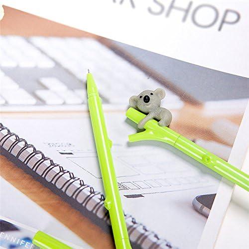 Hosaire Bol/ígrafo de tinta de gel bol/ígrafo Creative Gel Koala forma oficina de estudiantes Forma linda Color aleatorio 3 piezas