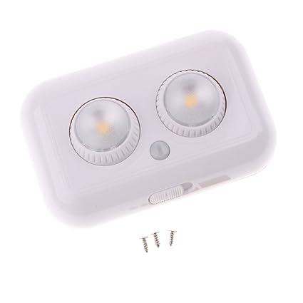 Sharplace Luz Nocturna de Sensor de Movimiento PIR Accesorios Apagar?Automáticamente Durante Día - Amarillo