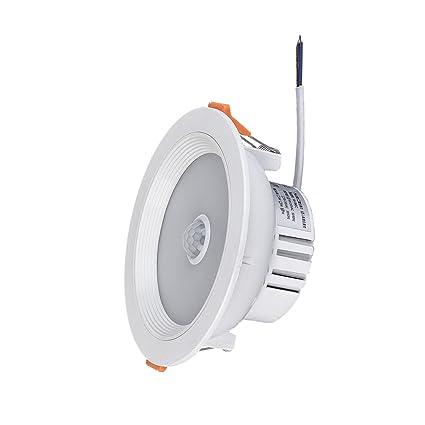 MagiDeal 7w Pir Lámpara de Camino Luz de Techo Pared Sensor de Movimiento Paso Downlight 85