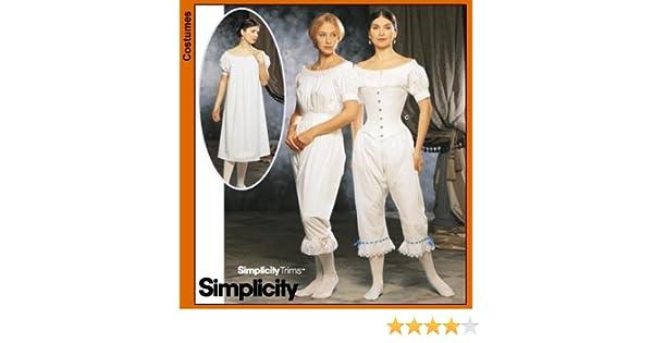 Simplicity 9769 Civil War Corset Chemise Pattern